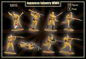 MARS-32015-1-32-WWII-JAPANESE-INFANTRY-15-Unpainted-Plastic-Toy-Soldiers