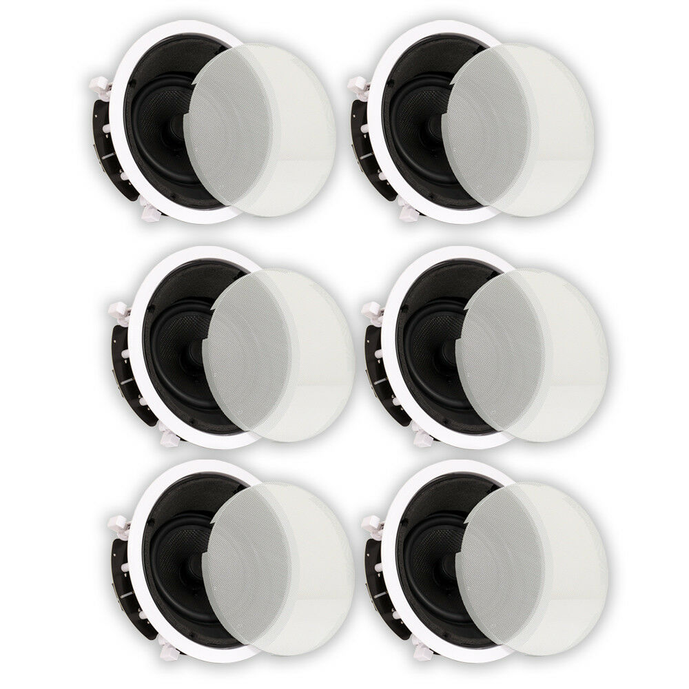 Theater Solutions TS65A In Ceiling 6.5  Angled Home Theater 6 Speaker Set