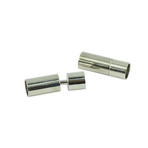 10 Stk DIY Magnetische Schmuck Verschlüsse Bajonettverschluss Silber 8mm