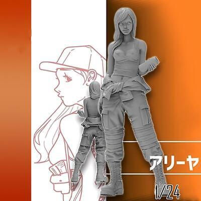 1//35 Standing Beautiful Girl Serie Resin Soldier Model Q1J4
