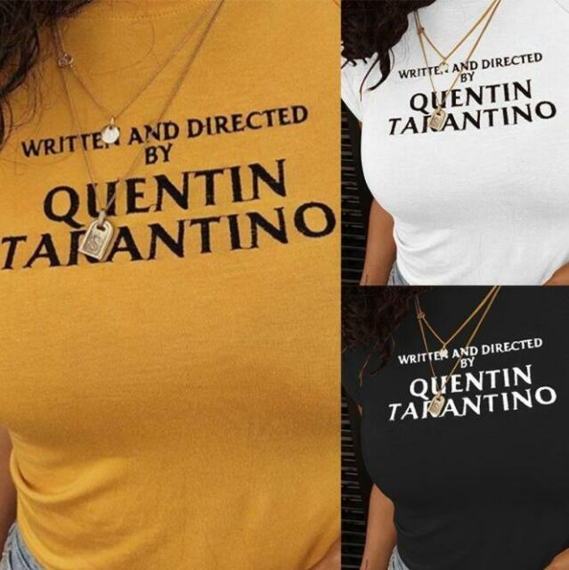 57f469722c110 Written and Directed By Quentin Tarantino Shirt Women Printed Clothes Tops