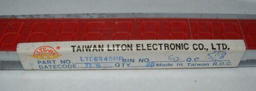 "5 LTD6940HR 2 digit RED LED display common cathode 0.56/"" seven segment CC 18pin"