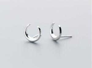 ausgewähltes Material UK Verfügbarkeit auf großhandel 925 Sterlingsilber Damen Ohrstecker Ohrringe Halbmond Mond ...