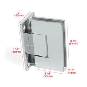 SUNNY SHOWER Frameless Pivot Shower Door Wall to Glass Hinge 90 ...