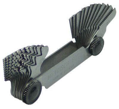 Gewindeschablone 24 Blatt Gewindelehre Gewinde Werkzeug