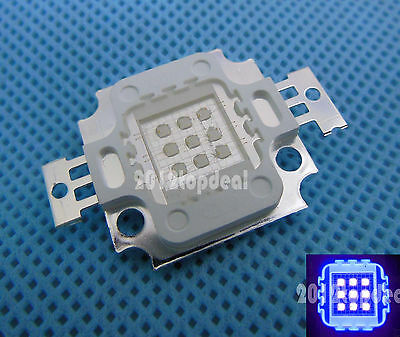 3w 10w 20w 30w 50w 100w UV Ultra Violet High power LED Chip 390-405nm F Aquarium