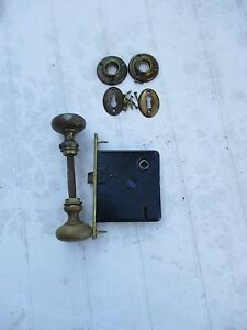 Image Is Loading ANTIQUE VINTAGE METAL DOOR KNOB WITH KNOB AND