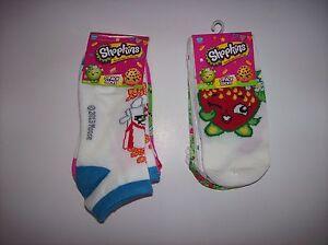 7cb788a7a3e Shopkins Socks Girls 5 Pack Select Low Cut or No Show Sock Sz 6-8.5 ...
