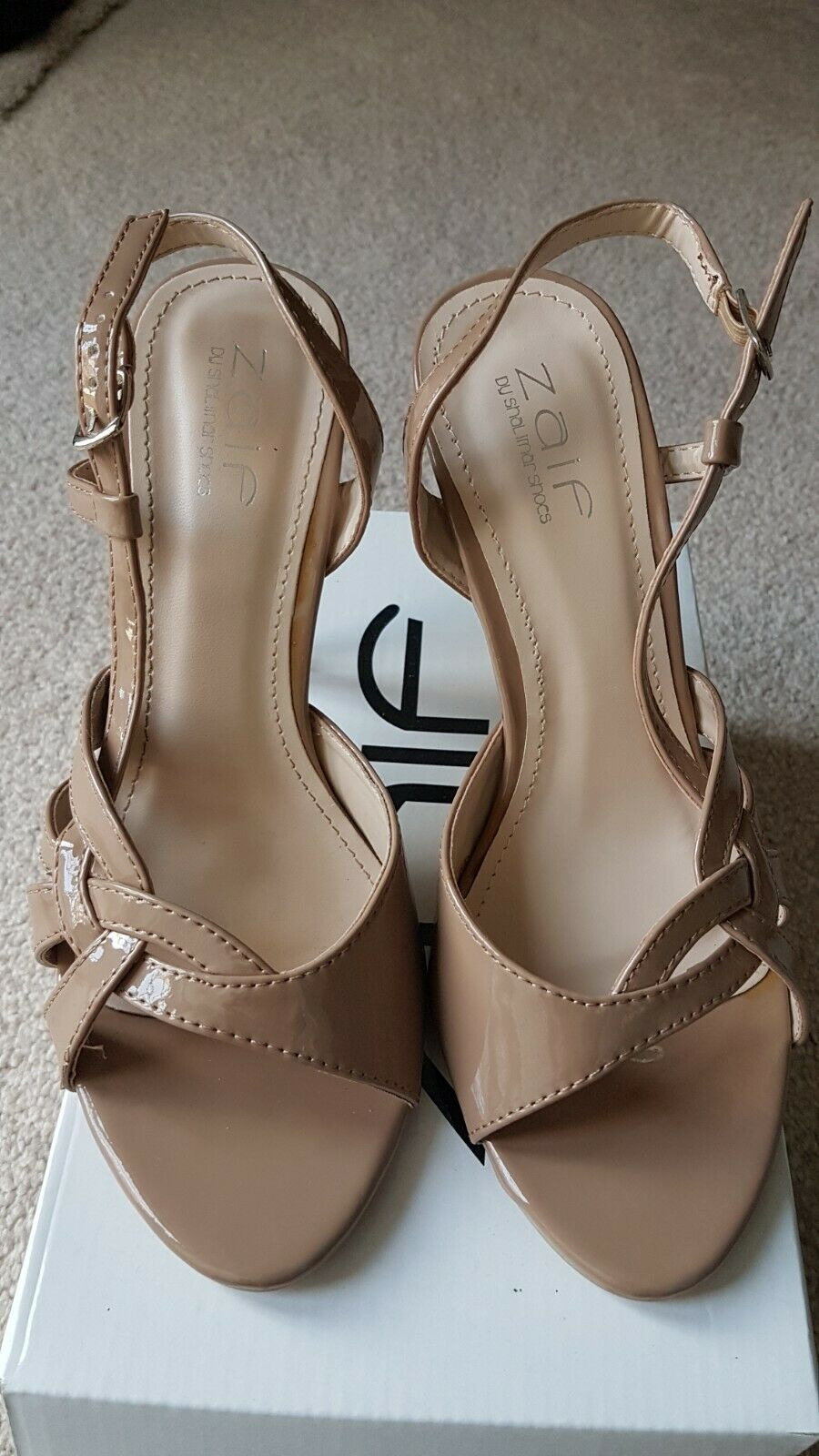 Nude Shiny strappy Heels size 5 BRAND NEW BOXED only !