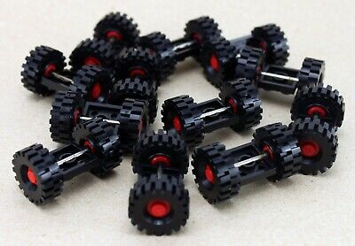 12 Axles 6 Vehicle Sets 24 x Wheels Lego Wheels