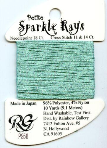 Rainbow Gallery Petite Sparkle Rays PS56 Lite Aqua Neon Metal Glow Ribbon