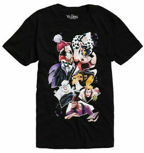 Disney-Villains-We-Bad-Black-Men-039-s-T-Shirt-New