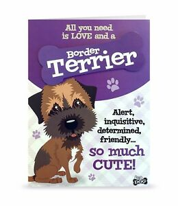 Image Is Loading Border Terrier Cute Love Blank Greeting Card Birthday