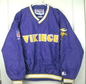 Image is loading Vintage-Minnesota-Vikings-Starter-Pullover-Jacket-Coat -Adult- ec122a60f