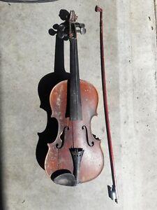 Antique-Violin-Joseph-Guarnerius-Fecit-Cremonae-ano-1736-IHS-Restore-Or-Parts