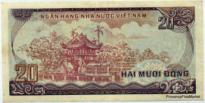 A Ticket North Vietnam 20 Dong Temple P94 1986 See Scan High Def