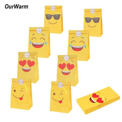 12PCS Unicorn Goodie Bags Paper Gift Bags Treat Bag Birthday Supplies Favors