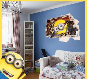 3D Minion Tapeten Kinder Wand Dekoration DIY Dekor Aufkleber | eBay