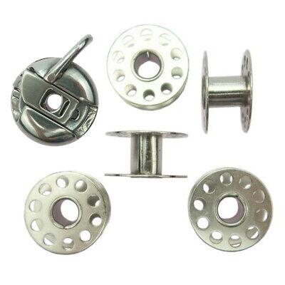 15 X  STANDARD  THREADED METAL SEWING MACHINE BOBBINS//SPOOLS