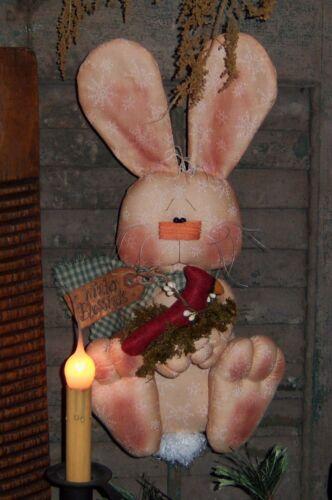 Primitive Patti/'s Ratties Bunny Rabbit Cardinal Door Doll Paper Pattern #267