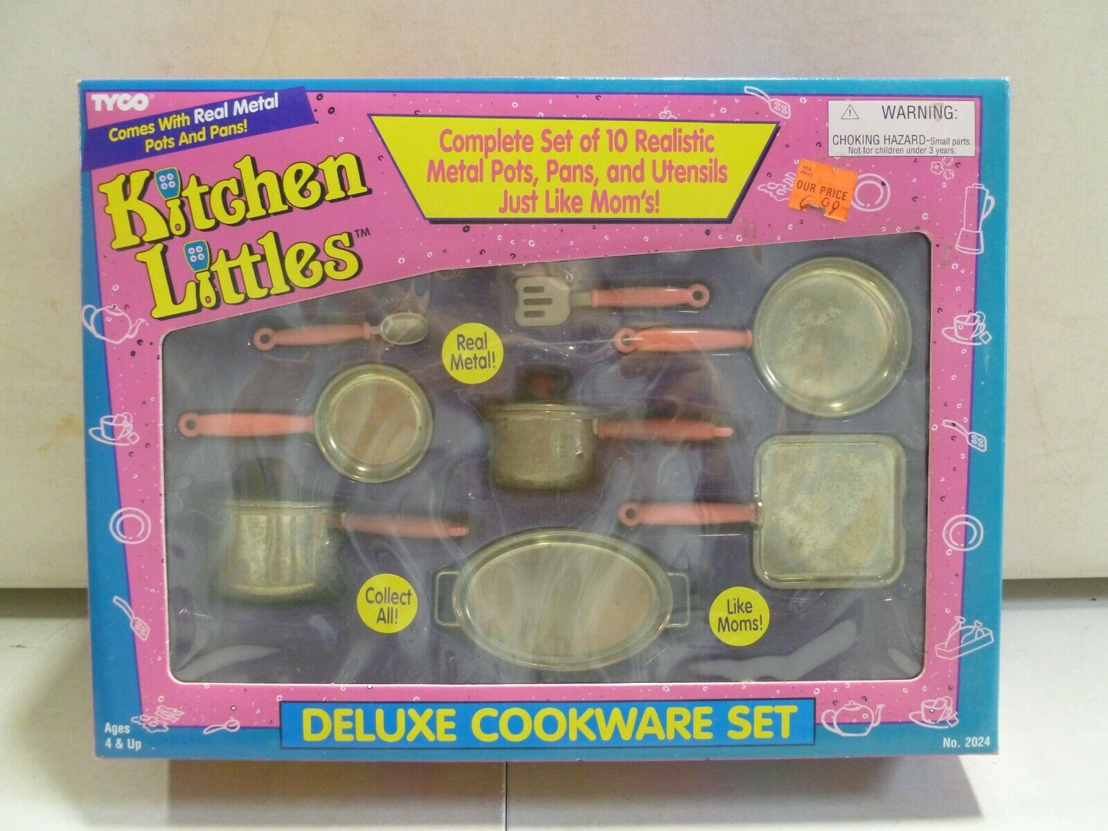 1995 Tyco Kitchen Littles Deluxe Cookware Set