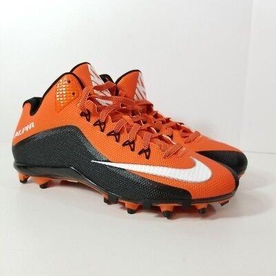 d8b966ea325a0 Nike Alpha Pro 2 3/4 TD Football Cleats Mens Size 14 Orange Black | eBay