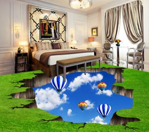 3D Sky Balloon Lawn 893 Floor WallPaper Murals Wall Print Decal AJ WALLPAPER US