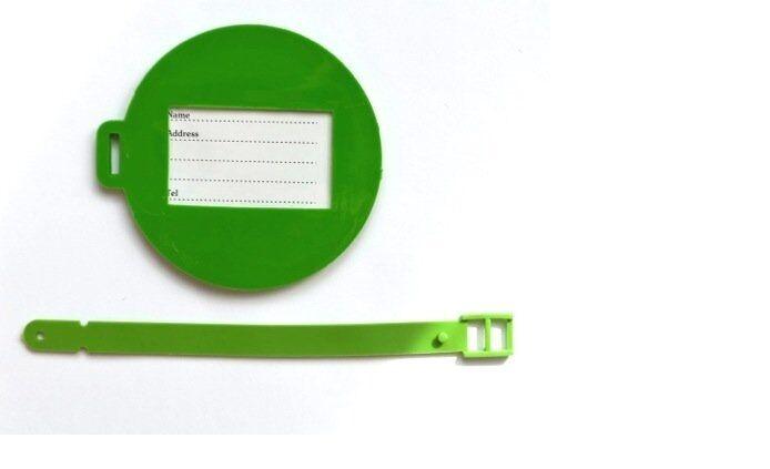 Nov@go label luggage/suitcase plane (green/round)