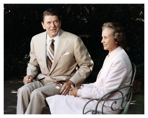 President Ronald Reagan With Sandra Day O/'Connor Silver Halide Photo