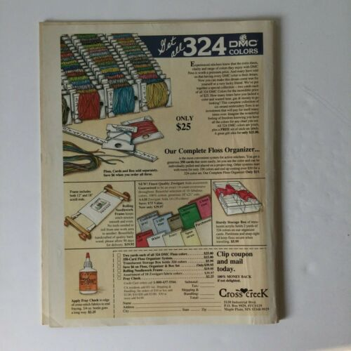 Cross Stitch /& Country Crafts Magazine July August 1988
