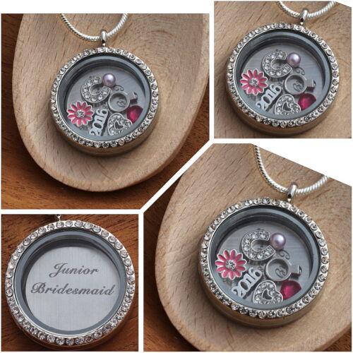 Keyring Personalised Wedding Bridesmaid  Gift Necklace /</> Keepsake Gift