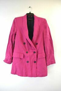 ZARA-Woman-Women-039-s-Hot-Pink-Double-Breasted-Jacket-Extra-Small
