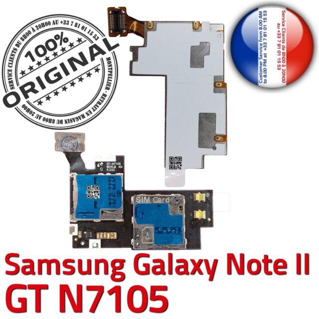 ORIGINAL Samsung Galaxy NOTE2 N7105 Connecteur Carte SIM Lecteur Memoire MicroSD