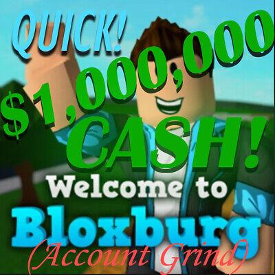 Roblox Bloxburg 1 000 000 Cash Guaranteed Satisfaction Acct
