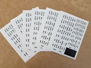 WHITE   sim racing button box and wheel stickers for iracing, asserto Corsa etc