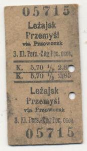 Fahrkarte-Lancut-Oderberg-Osterreich-Polen-Ukraine-ca-1915-559