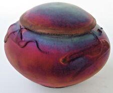 Kerry Gonzalez Copper Raku Small Pet Cremation Urn Jar Studio  Art Pottery