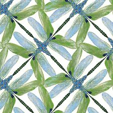 Houndstooth Butterfly Dragonfly Cotton Fabric Kanvas Studio Boy Meets Girl Yard