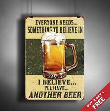 A3 Cerveza Retro Cartel parodia gruesas de tarjetas bordo de signo Vintage Bar Pub Pared Arte Decoración