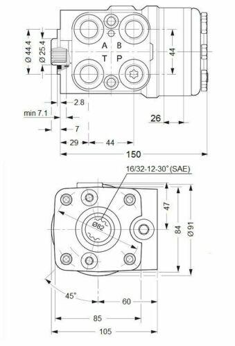 Steering Control Unit Orbitrol OSPC 200 LS Replacement DANFOSS 150-1234 Quality