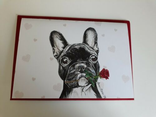 Single Large Luxury French Bulldog Frenchie Mothers Day//Birthday Card Dog RR