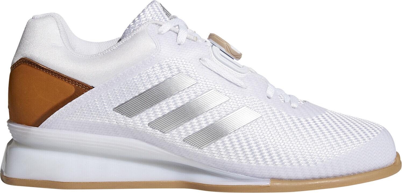 Prestazioni Adidas 16 Weightlifting scarpe bianca sollevamento pesi Scarpe Fitness Allenamento