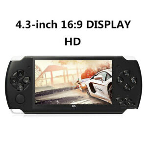 Portable 4.3 inch 8GB Handheld Game Console Built in 1200+ Real Video Games NEW