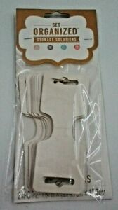 24pc Fold Over Display Cards Butterfly Tags in Metallic Cream with Adhesive Back