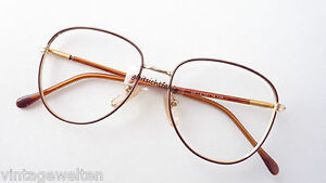Damen-accessoires Sonnenbrillen & Zubehör Gut Panto Brillenfassung Intellektuellenbrille Vintage Klassiker Braun Gold Grösse M