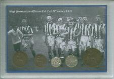 West Bromwich Albion w.b.a Brom Montante Settimanale del beneficio vincitori della coppa F. A. Vintage Coin Set Regalo 1931