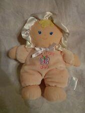 "Small Wonders My First Doll Baby Rattle Rag 8"" Plush Soft Toy Stuffed Animal"