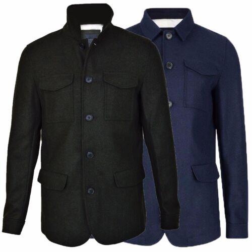 Abrigo para hombre de diseñador otoño invierno lana mezcla Chaqueta Formal Inteligente Grueso Bolsillos