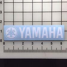 "Yamaha Logo 6"" Wide White Vinyl Decal Sticker - BOGO"