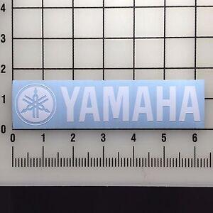 Yamaha-Logo-6-034-Wide-White-Vinyl-Decal-Sticker-BOGO